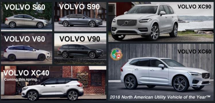 Volvo 2018 Model Lineup