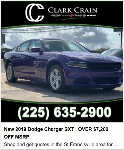 New 2019 Dodge Charger SXT