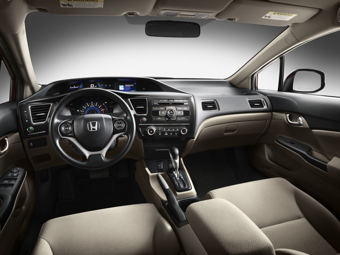 2013 honda civic lx ivory interior